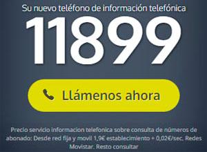 Teléfono de información, guía 11899